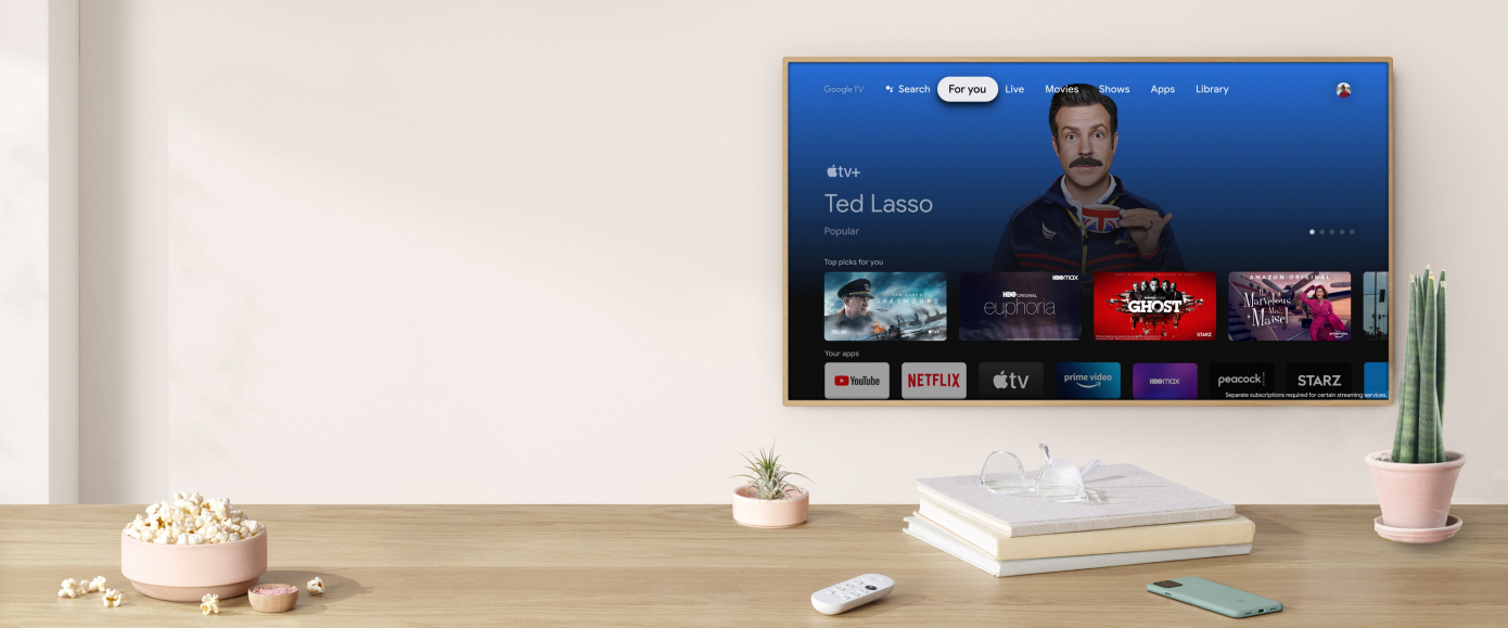 Apple TV+ arrives on Google TV devices, starting with Chromecast