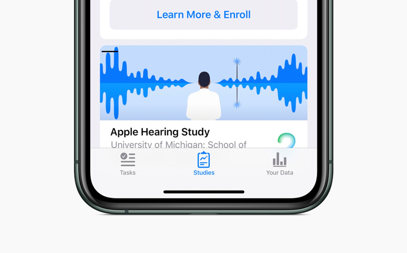 Apple releases results from hearing health study